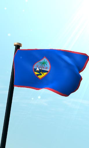 關島旗3D動態桌布