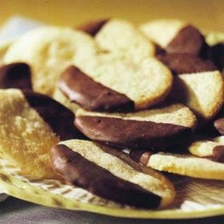 Chocolate-Coated Orange Cookies