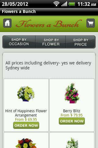 Flowers a Bunch Sydney Florist - screenshot