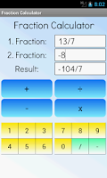Screenshot of Fraction Calculator