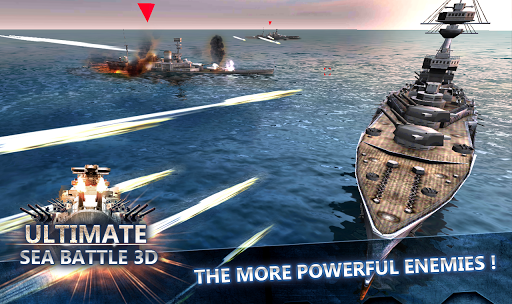 لعبة Ultimate Sea Battle 3D v1.5.0 [Mod Money] لجوالات الاندرويد
