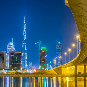 The Iconic Burj Khalifa by Andy Arciga (www.arcigaandy.com) - Buildings & Architecture Bridges & Suspended Structures ( , city, night, Urban, City, Lifestyle )