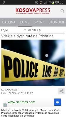 Kosova Press - screenshot