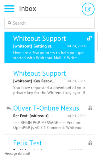 Whiteout Mail: easy to use PGP