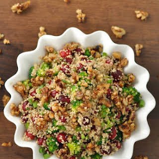 Cranberry Quinoa Salad with Candied Walnuts.