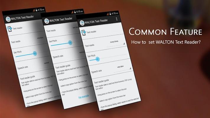 WALTON Text Reader - screenshot