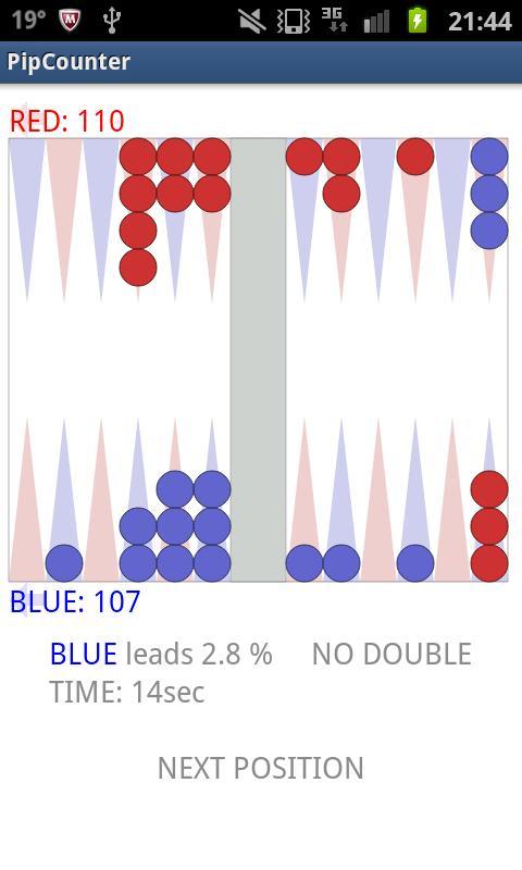 Pip Counter for Backgammon- screenshot