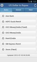 Screenshot of Rupee Exchange Rates