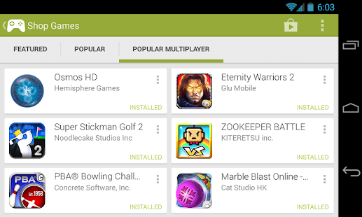 Google Play Games - screenshot thumbnail