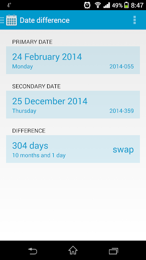 dateCALC Date Difference