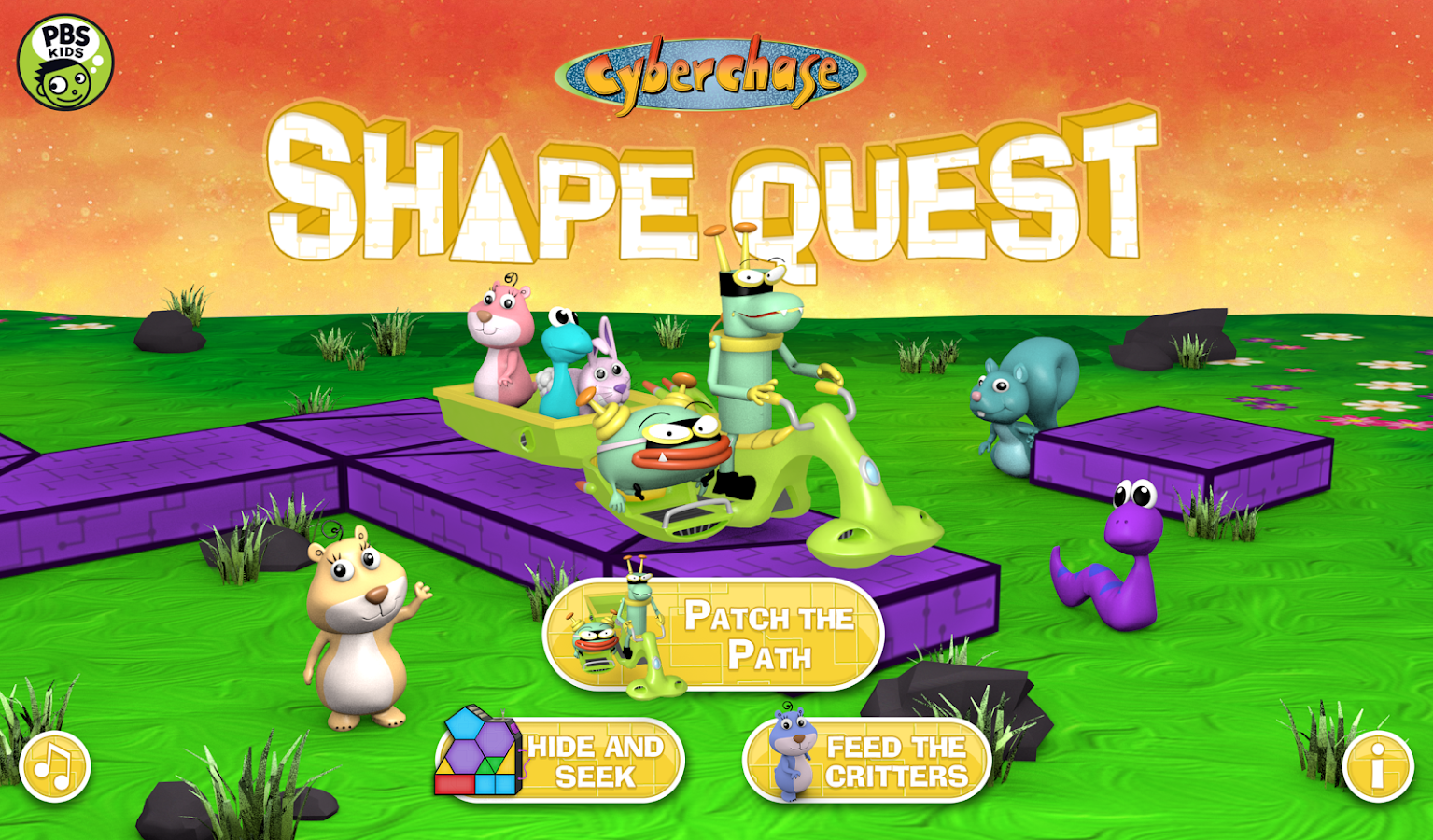 CyberChase Shape Quest!- screenshot