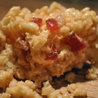 Brown Butter Cereal Bars with Candied Bacon.