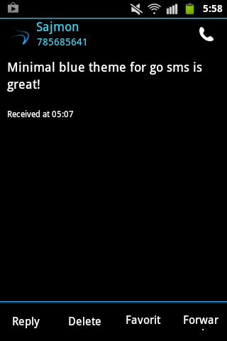 GO SMS Pro Theme Ice Minimal- screenshot
