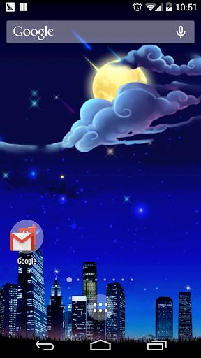 月星の夜下メテオ