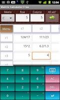 Screenshot of Matrix Calculator Free