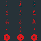 Dialer theme Droid L Red
