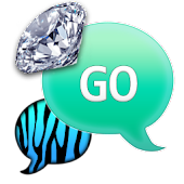 GO SMS - Ocean Diamond Zebra
