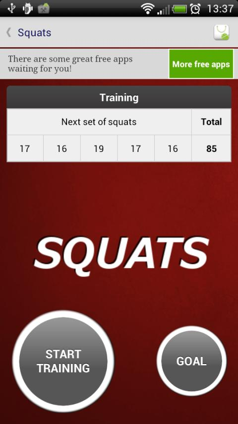 Squats - Fitness Trainer - screenshot