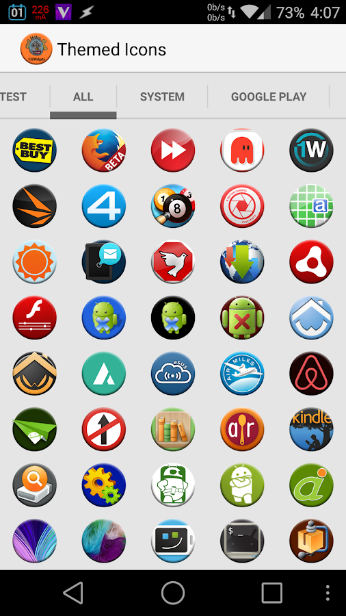 Round Icon Pack Theme- screenshot