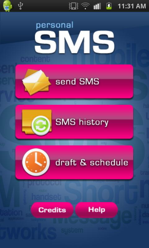 Personal SMS- screenshot
