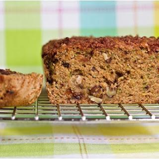 Oil-Free Zucchini Walnut Raisin Loaf with Cinnamon Streusel Recipe
