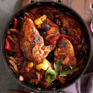 Braised Chicken with Olives and Orange