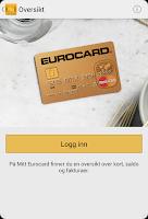 Screenshot of Eurocard Norge