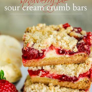 Strawberry Pie Sour Cream Crumb Bars.