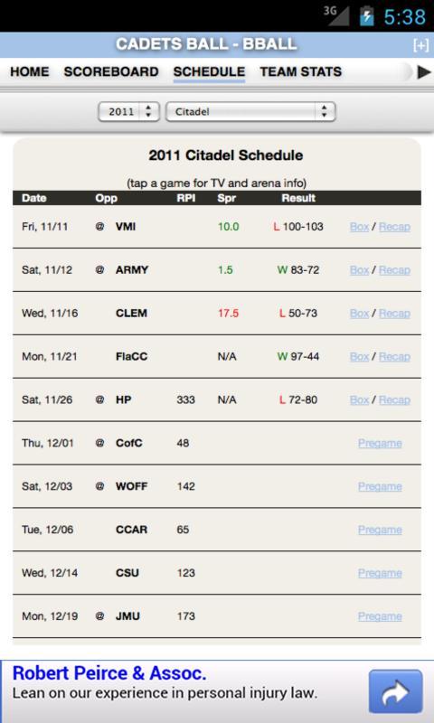 Citadel Football & Basketball - screenshot