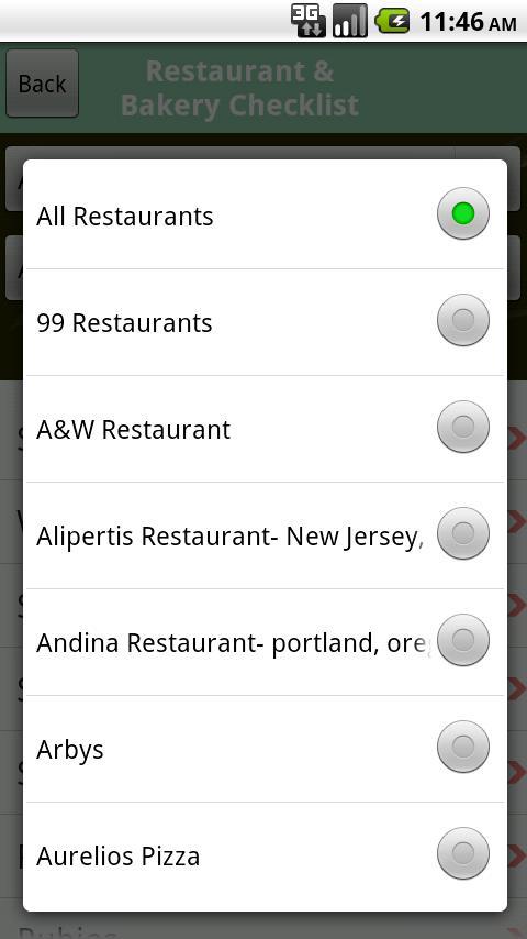 Gluten Free Checklist- screenshot
