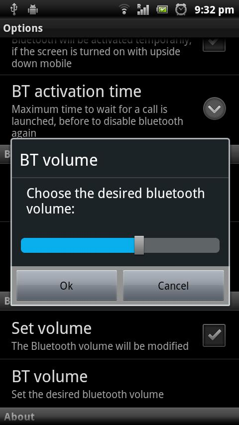My Bluetooth Handsfree Demo - screenshot