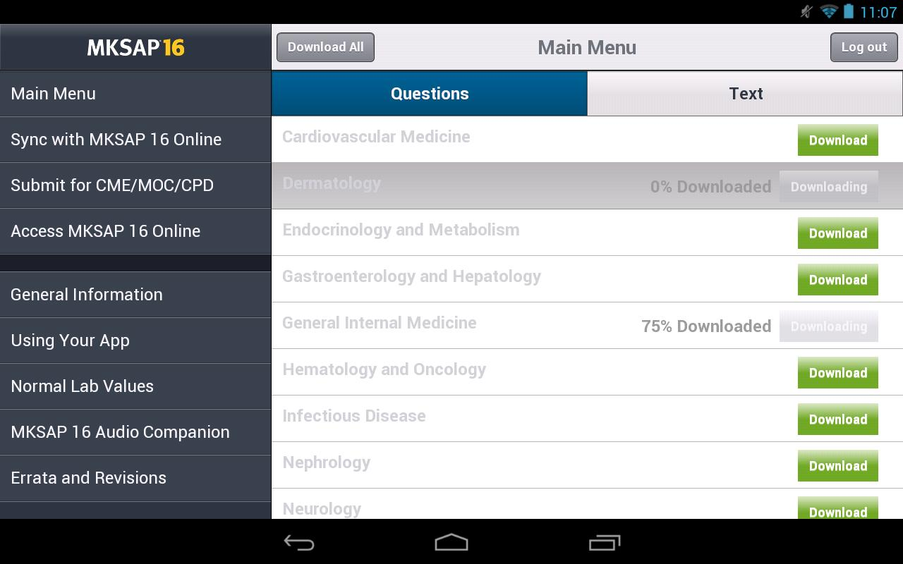 MKSAP 16 Tablet Edition- screenshot