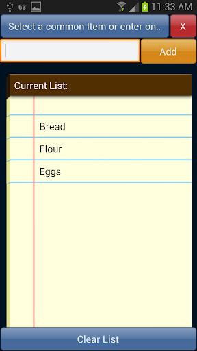 Simple List