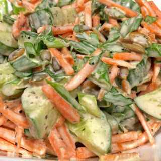 Carrot, Parsley, Cucumber and Green Onion Salad