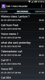 Call + Voice Recorder Free - screenshot thumbnail