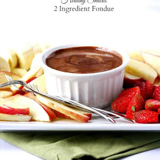 Two-Ingredient Almond Butter Dark Chocolate Fruit Fondue