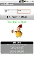 Screenshot of Best BMI Calculator