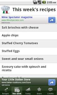 Italian Recipes- screenshot thumbnail
