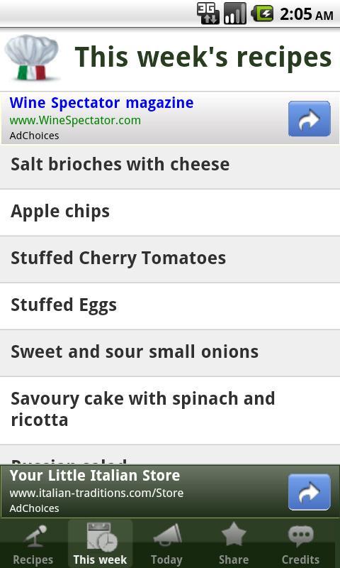 Italian Recipes- screenshot