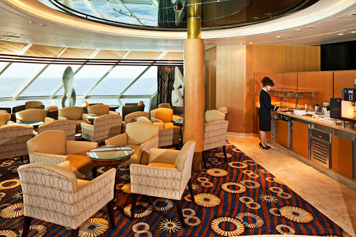 Rhapsody-of-the-Seas-Diamond-Club - Access to Rhapsody of the Seas' Diamond Club is reserved for Diamond-and-above level Crown & Anchor Society members.