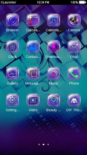 玩個人化App|Purpletech C Launcher Theme免費|APP試玩