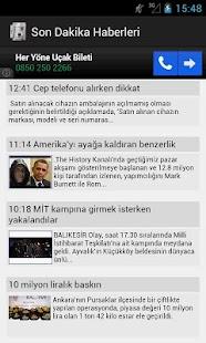Son Dakika  Haberleri - screenshot thumbnail