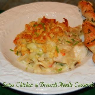 Swiss Chicken & Broccoli Noodle Casserole.