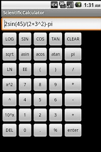 Scientific Calculator screenshot 1