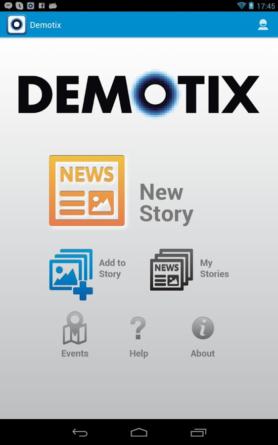 Demotix - screenshot