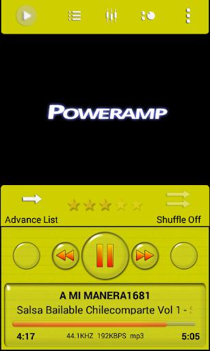 Poweramp Skin Yellow Minimal