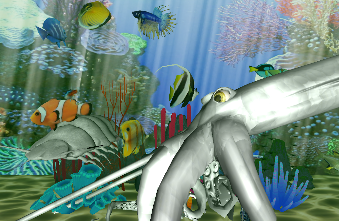 Virtual fish tank aquarium google - Aqualand 3d Fish Aquarium Screenshot