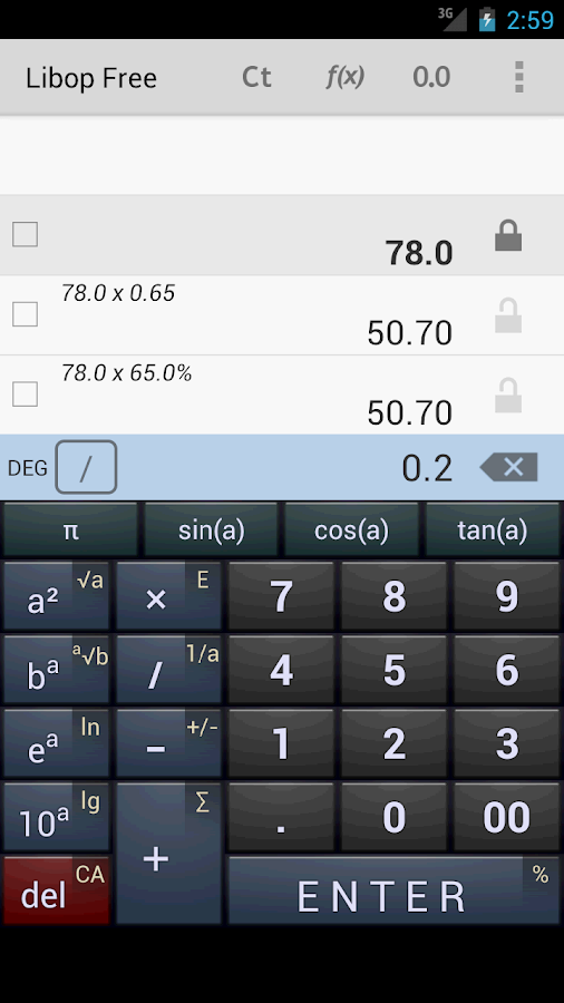 Libop Calculator Free - screenshot
