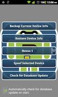 Screenshot of Device Spoofer