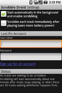 Scrobble Droid- screenshot thumbnail